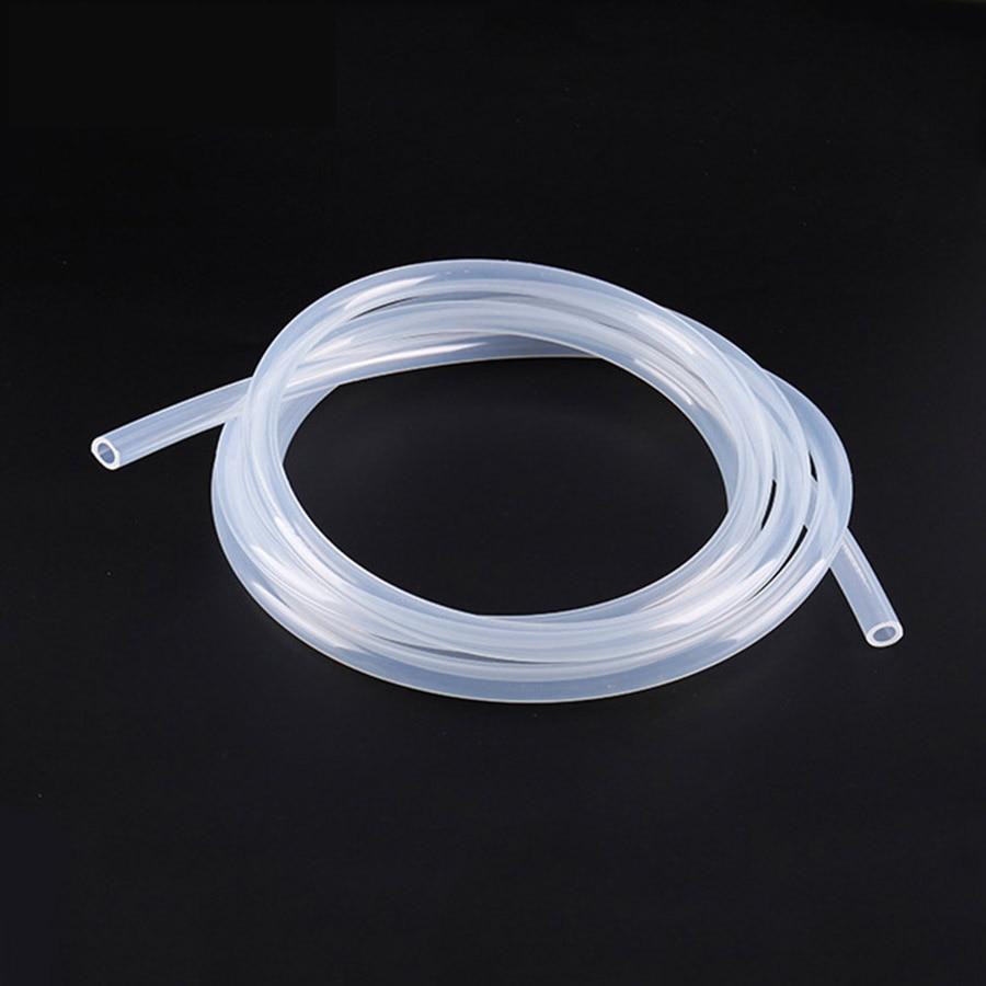 Manguera de goma de silicona transparente de grado alimenticio, tubo Flexible de silicona 1mm de diámetro interno 1,5mm 2mm 2,5mm 3mm 4mm