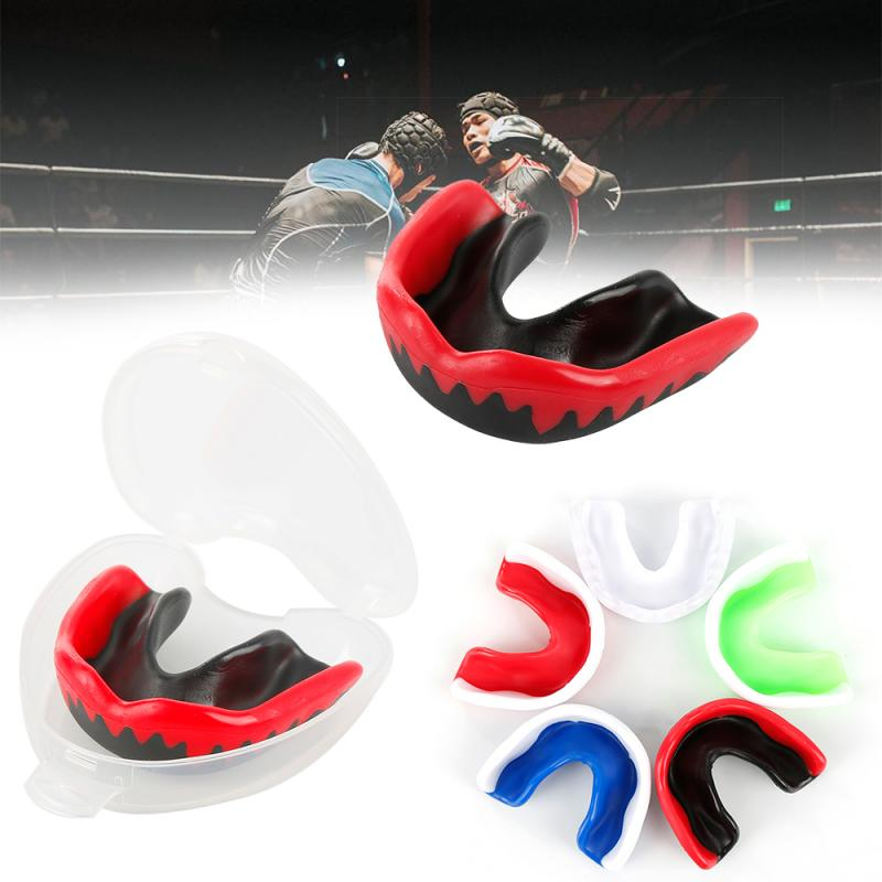 Soft EVA Adult Mouth Guard Silicone Teeth Protector Mouthguard for Boxing Sport Football Basketball