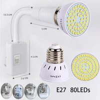 2 pcsset e27 led lamp e27 spotlight bulb 48 60 80leds lampara 220v bombillas led e27 lampada spot light 5w 7w 9w