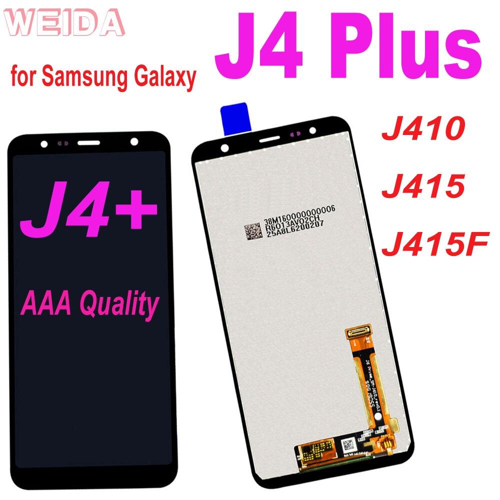 100% teste lcd para samsung galaxy j4 + j4 mais lcd j410 j415 j415f display lcd de tela toque digitador assembléia j610 j6 mais lcd