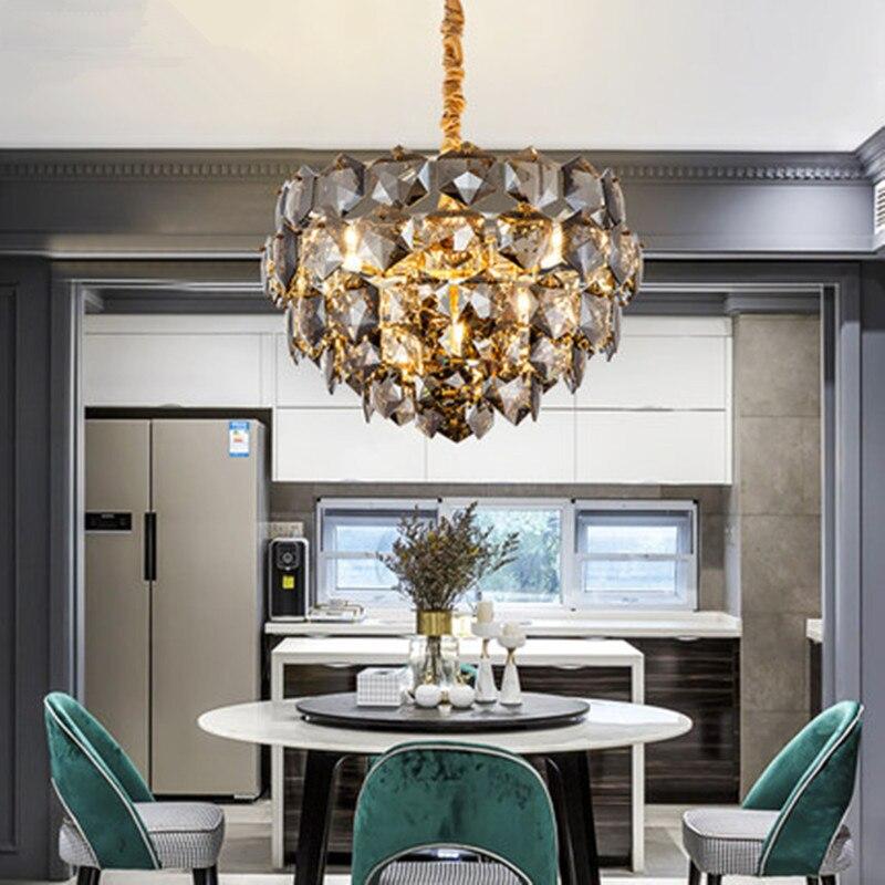 Lámpara de araña moderna de lujo, accesorios de iluminación de cristal, casa...