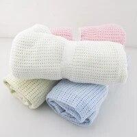 baby blanket cotton super soft kids month blankets newborn swaddle infant wrap bath towel girl boy stroller cover inbakeren