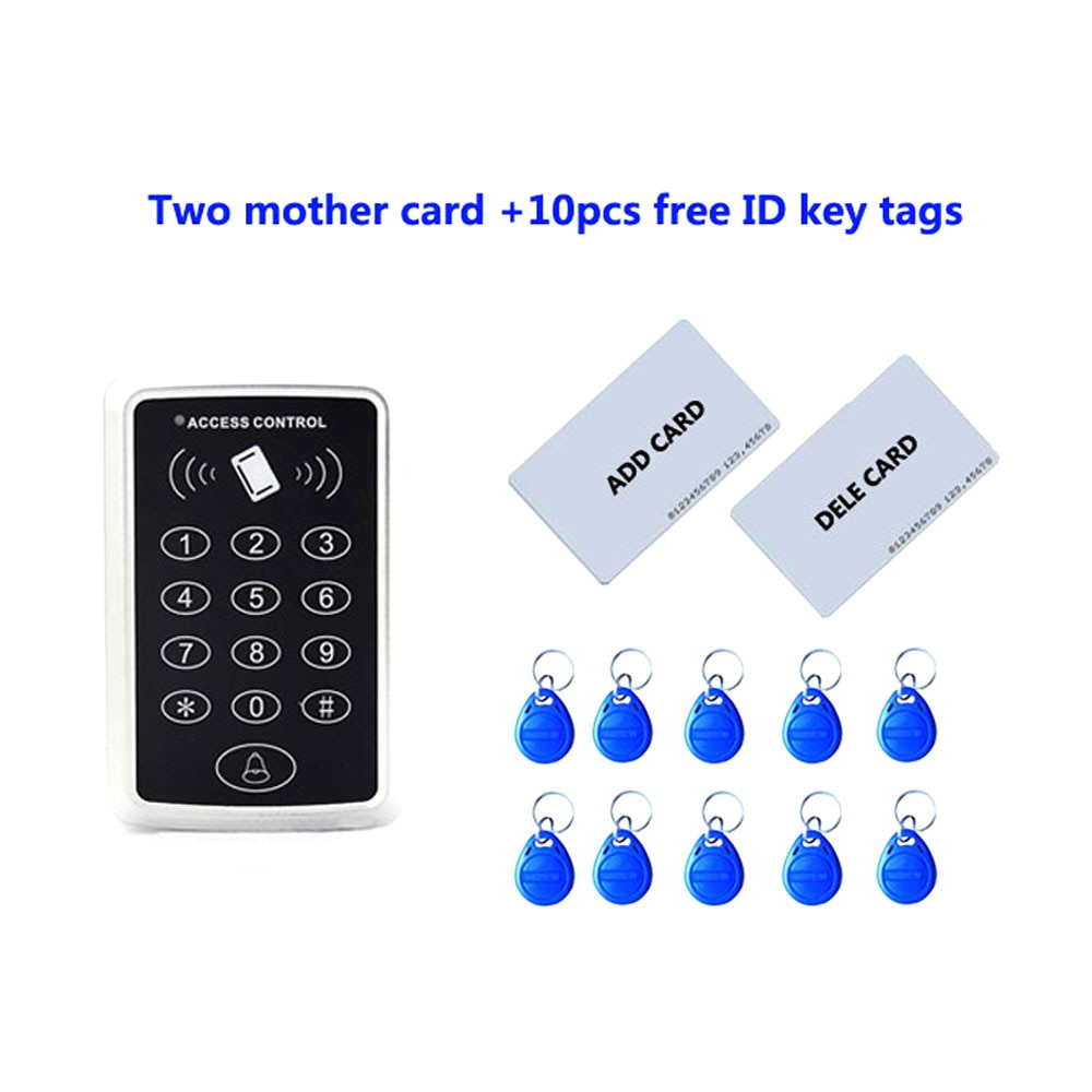 proximity RFID 125Khz ID card Standalone +Touch keypad Single door access controller ,2pcs mother card, 10pcs ID tags,min:1pcs