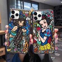 Cartoon Disneys princess Mermaid Snow White soft TPU Case for iPhone 11 Pro MAX SE 5 6 6S 7 8Plus MAX XR XS X Cover