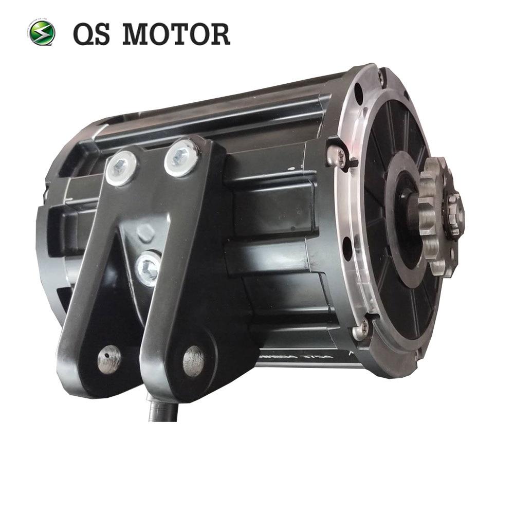 QS MOTOR 120 2000W Mid Drive Motor 428 Sprocket Type And EM100SP Controller For Electric Motorbike 70KPH 72V enlarge