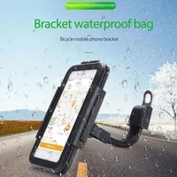 universal bicycle phone holder hard shell mountain motorcycle waterproof touch screen stand bicycle equipment smartphone stand