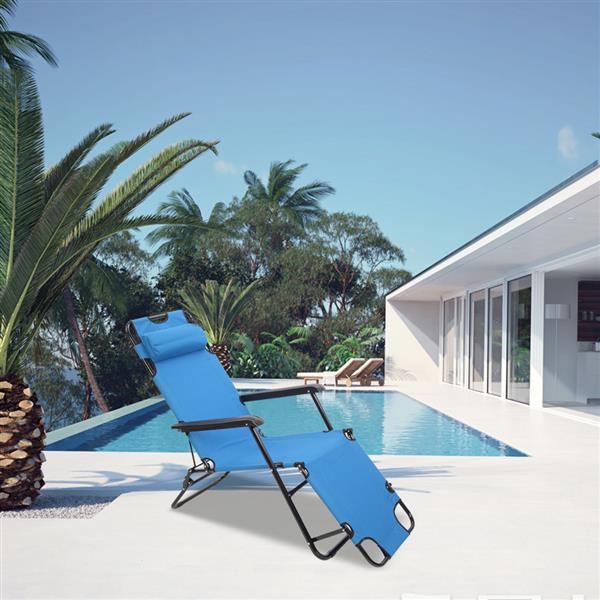 كرسي استرخاء محمول قابل للطي لاستراحة الغداء ، للاستخدام في الهواء الطلق ، المنزل ، الشاطئ ، الغداء