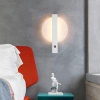 2021 7w led wall light modern simple bedroom lamps indoor dining room corridor lighting