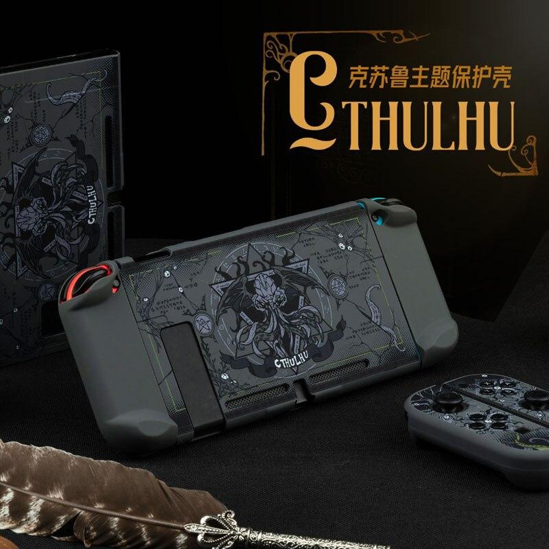 Great Cthulhu-جراب واقٍ صلب غير لامع لجهاز Nintendo Switch ، جراب واقٍ لوحدة تحكم Joy-Con ، علامة تجارية كبيرة