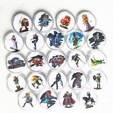 Nouveau ensemble de données 24 pièces   Étiquette pour carte de Collection, pièces de monnaie, la légende de Zelda, NFC, carte Amiibo, Ntag215 NS, interrupteur WiiU lien, réveil
