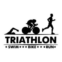 car sticker triathlon swim bike run athlete sport trunk decorate auto motorcycles exterior accessories vinyl decals18cm11 3cm