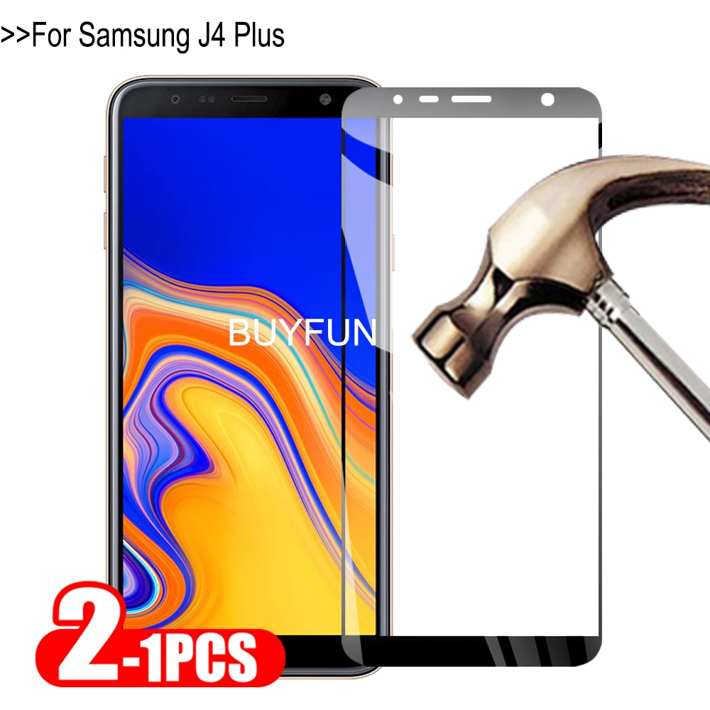1-2Pcs Tempered Glass For Samsung Galaxy J4 Plus Protective Glass On For Sumsung Samsun J 4 SM-J415F