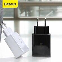 Chargeur USB Mini PD Baseus QC3.0 18W Charge rapide du tableau de bord tyep-c double USB chargeur ue prise de voyage