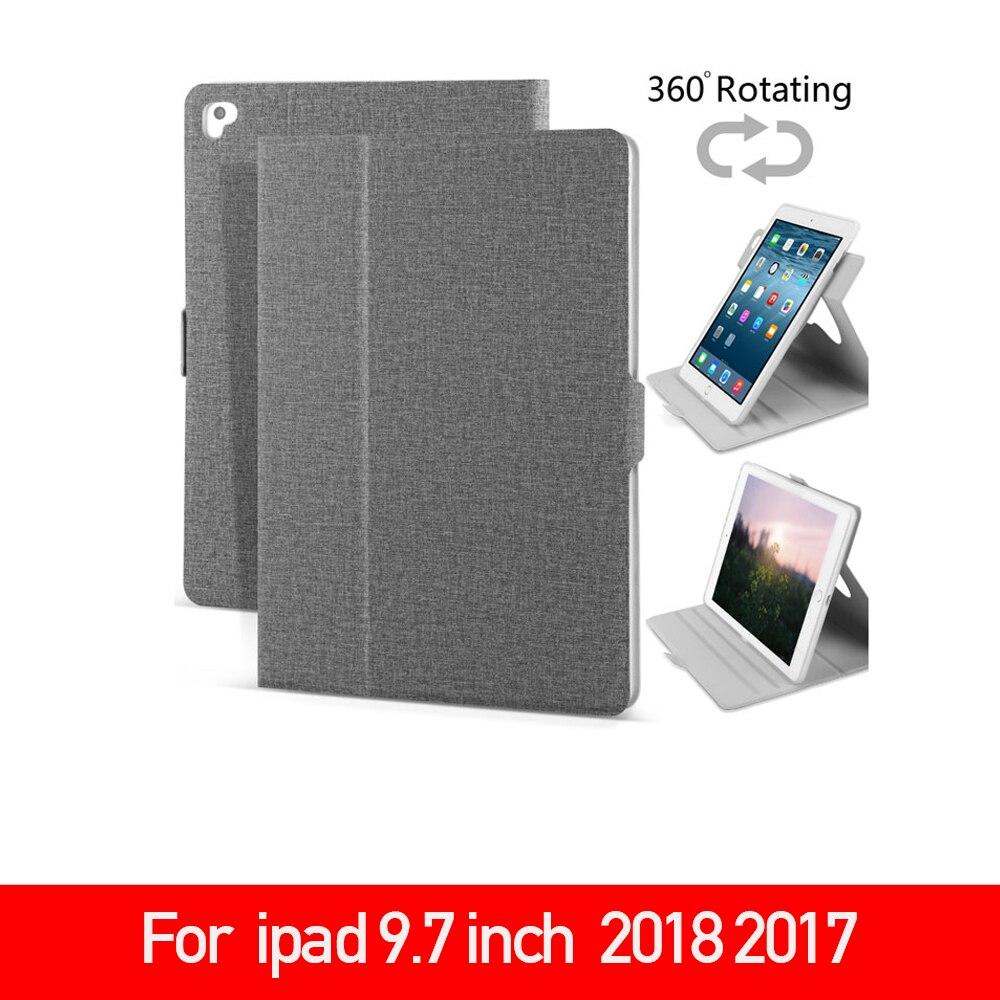 "Funda para iPad 9,7 ""2017 2018,Air 1/2,Pro 9,7 pulgadas, stents giratorios inteligentes 360 múltiples ángulos visuales Tablet Smart Cover Anti-polvo"