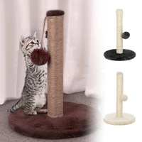 pet toy sisal cat scratching post for cats kitten climbing post jumping tower toy with ball cat scraper protecting furniture