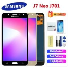 5,5 pulgadas para SAMSUNG Galaxy J7 Neo pantalla LCD J701 J701F J701M J701MT pantalla táctil LCD piezas de repuesto