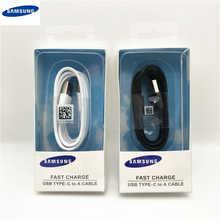 Samsung кабель для быстрой зарядки, оригинальный USB type-c кабель для передачи данных, быстрое зарядное устройство для Galaxy S10 S9 S8 Note9 Note8 A7 A8 A10 A70 A60 A50 ...