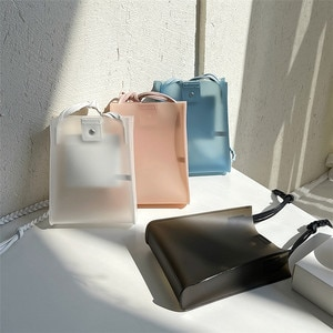 NEW Casual PVC Transparent Clear Women Crossbody Bags Shoulder Bag Handbag Jelly Small Phone Bags with Card Holder Wide Straps