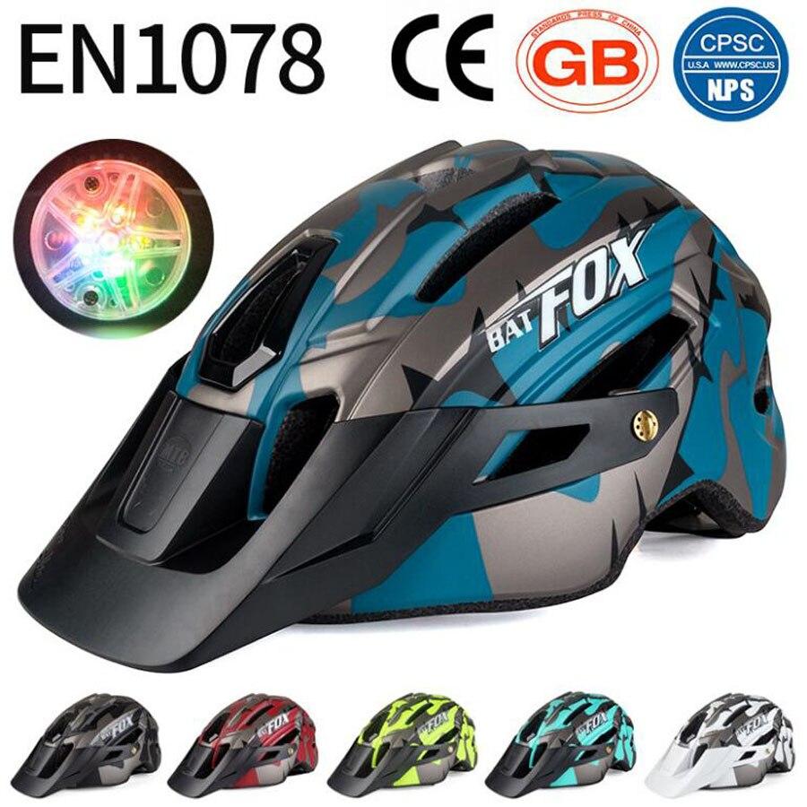 BATFOX casco de bicicleta casco moldeado integralmente mtb cascos casco batfox mtb...