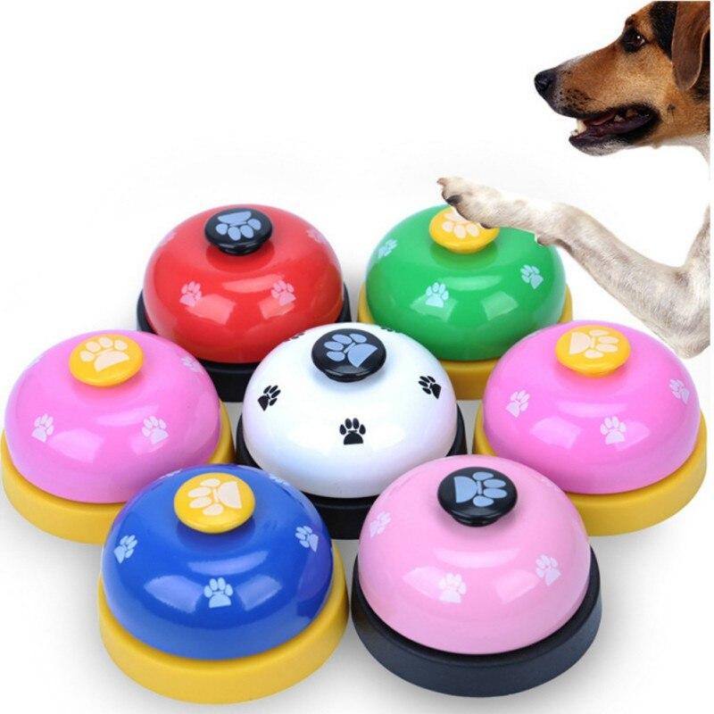 Timbre de llamada para mascotas, juguetes para perros, timbre para alimentación de gato, juguete educativo IQ, herramienta de entrenamiento, campana interactiva, alimentador de comida para mascotas, suministro caliente