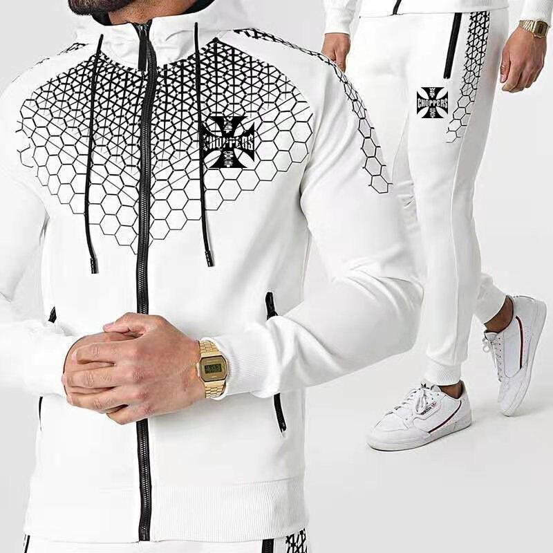 2021new ملابس للرجال مجموعة الساحل الغربي شعار طباعة سستة مقنعين سترة السراويل الرياضية الدعاوى موضة التدرج الخريف جديد الرجال الدعاوى