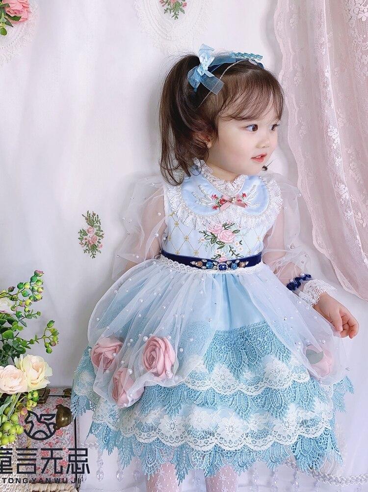 Spring New Spanish Girl's Princess Dress Children's Dress Children's Lolita Dress Flower Girl Dresses Kids Dresses for Girls enlarge