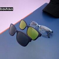 Очки солнцезащитные женские ультралегкие в металлической оправе с поляризационными стеклами
