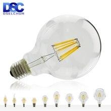 Ampoule Vintage en verre à Filament, ampoule Vintage E27 E14 lampe rétro Edison 220 V-240 V ampoule C35 G45 A60 ST64 G80 G95 G125