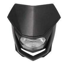 12V evrensel motosiklet Dirt Bike Halo far başkanı işık lambası kir bisiklet far Enduro Crf Xr Wrf Yzf drz Klx Ym-004