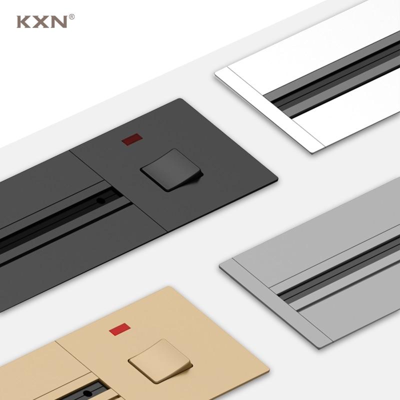 KXN السلطة المسار سطح المقبس/أخفى P1 سلسلة 40 سنتيمتر 60 سنتيمتر 80 سنتيمتر 100 سنتيمتر الكهربائية الجدار تمديد منافذ مع التبديل