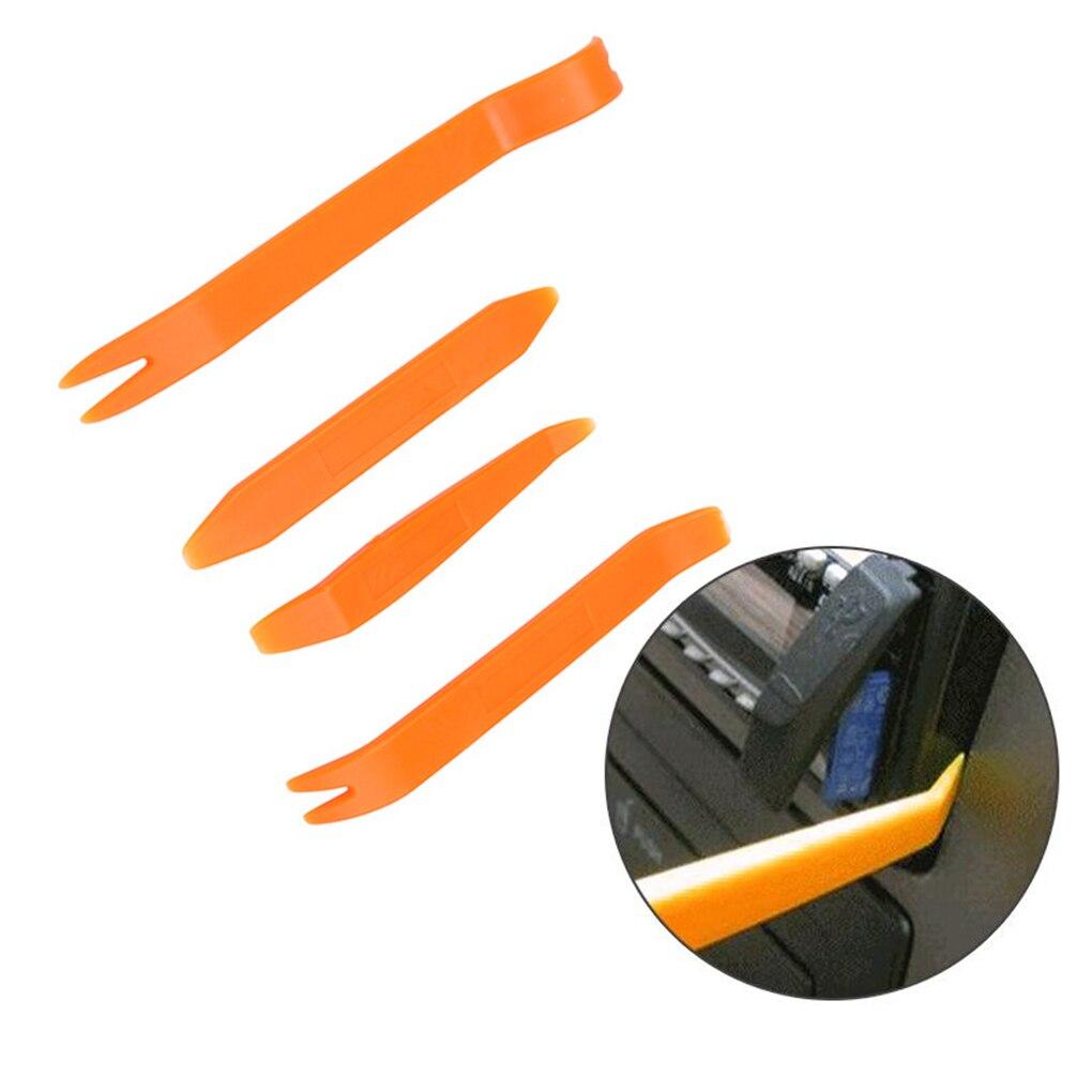 4 pçs porta do carro clipe painel de remoção ferramentas áudio vídeo dashboard desmontar kits instalador pry ferramenta plástico