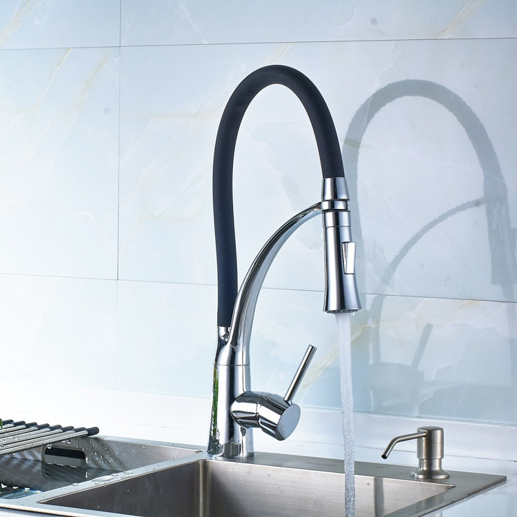 الفولاذ المقاوم للصدأ الأسود صنبور 360 درجة قابل للتعديل صنبور المطبخ صنبور موسع صنبور موسع خلاط حوض حمام صنبور HWC