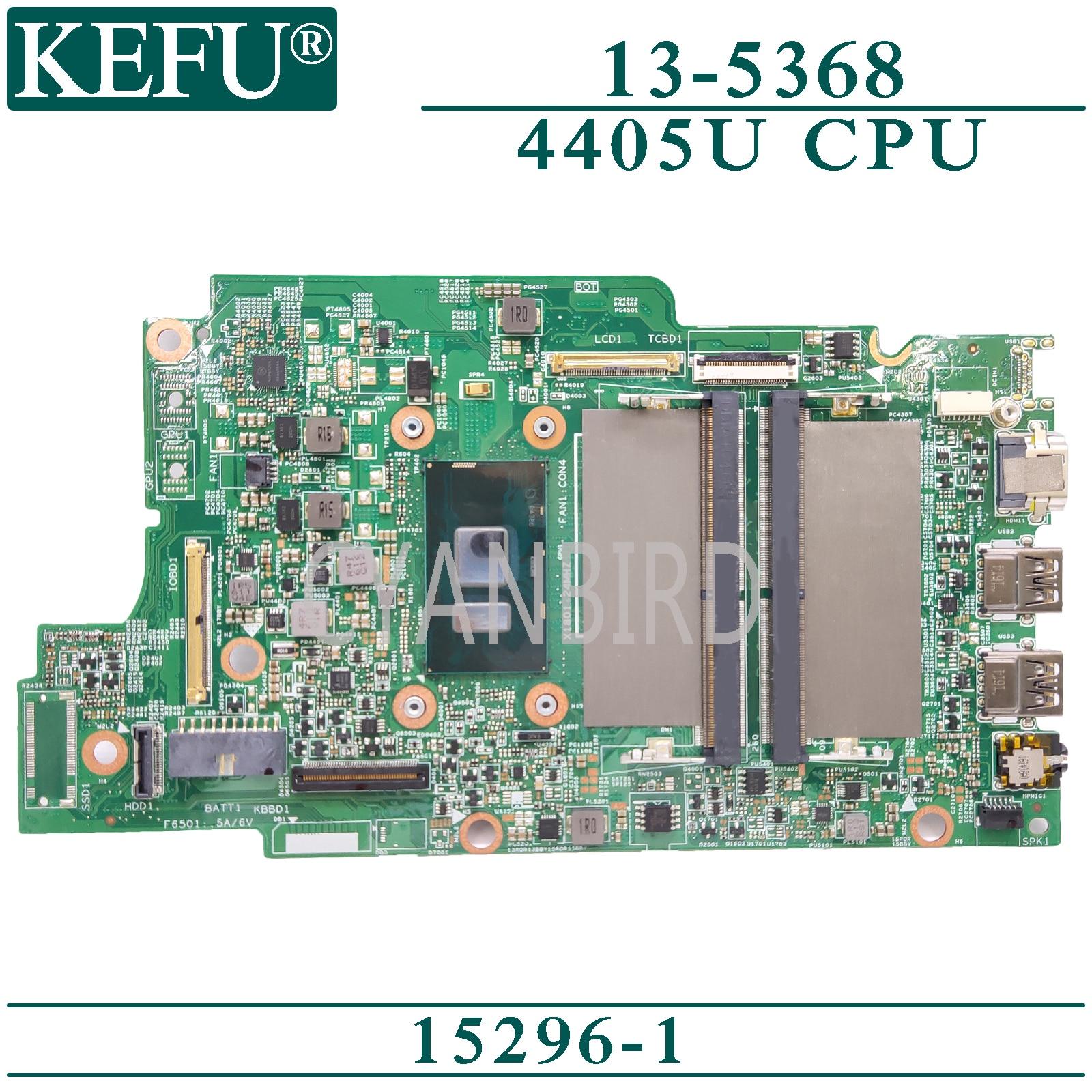 KEFU 15296-1 لوحة رئيسية أصلية لأجهزة الكمبيوتر المحمول Dell Inspiron 13-5368 مع 4405U