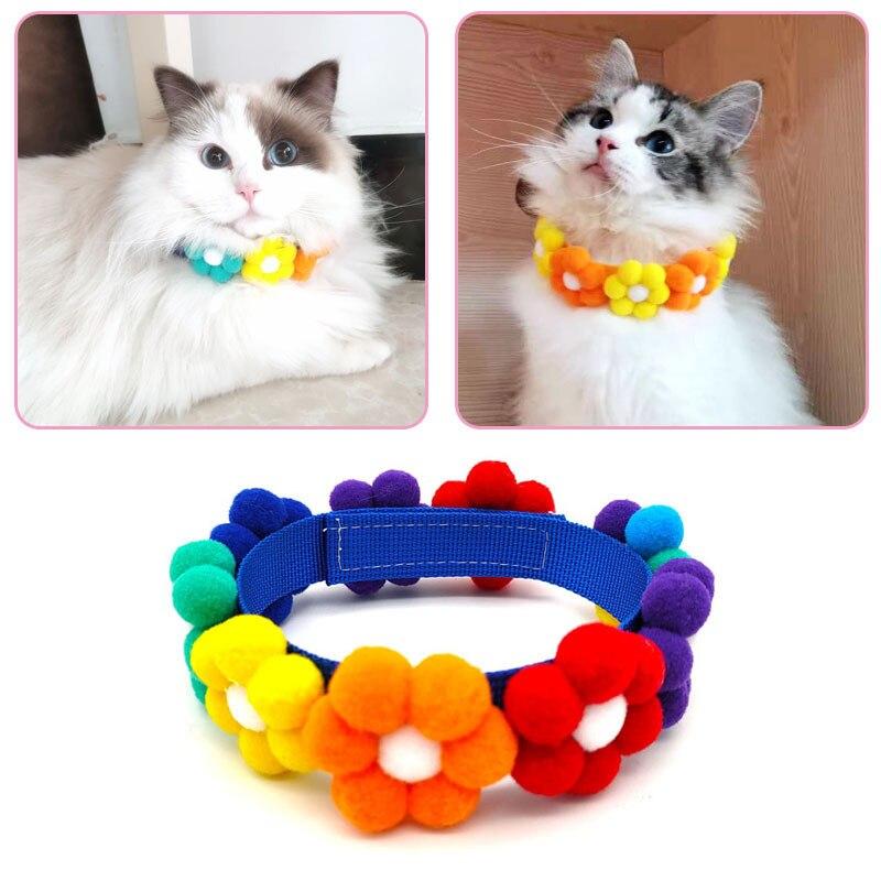 Nuevos Collares Para perro cachorro Collar de decoración de flores bonitas Collar...