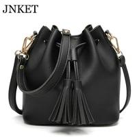 jnket new fashion womens bucket bag pu leather bag tassels crossbody bag handbag shoulder bag casual sling bag