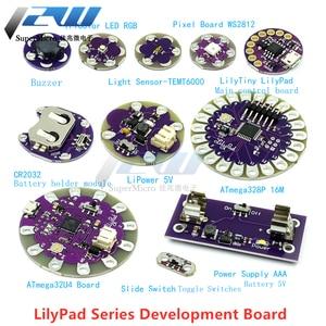 ATmega32U4 ATMEGA328P LilyPad 328 для Arduino DIY Набор Micro USB ATtiny85 LilyTiny формирователь материнской платы WS2812 RGB CR2032 TEMT6000