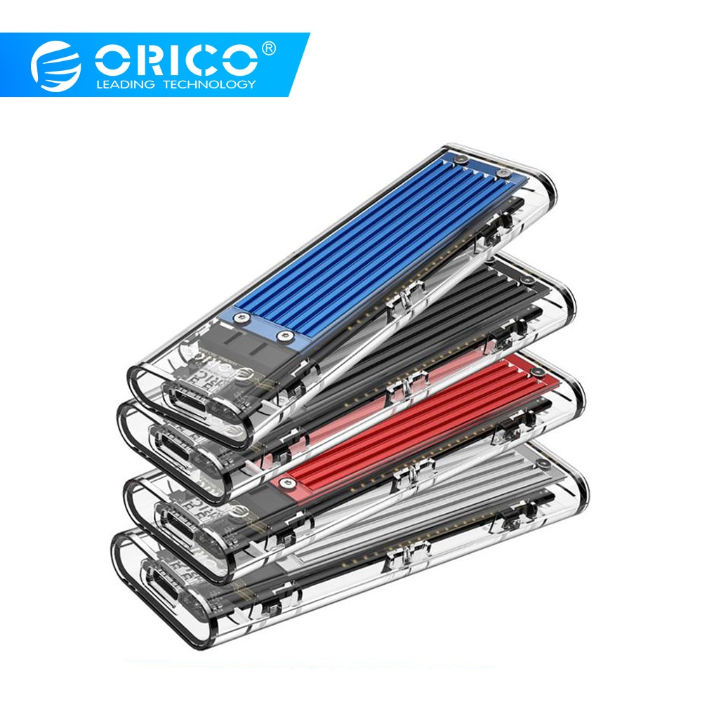ORICO M.2 SSD Case M.2 USB M Key NVMe SSD carcasa Disco Duro transparente para M2 NVMe SSD carcasa tipo C 3.1M2 SSD funda