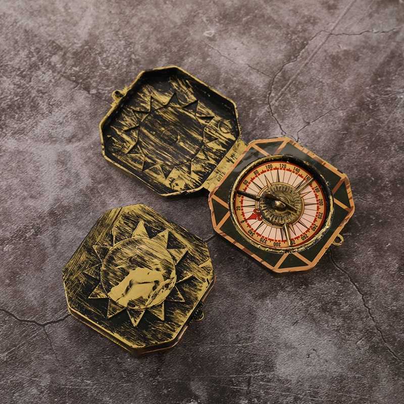 1 Pcs Pirate Toy Compass Nautical Compass Pirate Costume Toy Halloween Cosplay Party Decoration Accessories