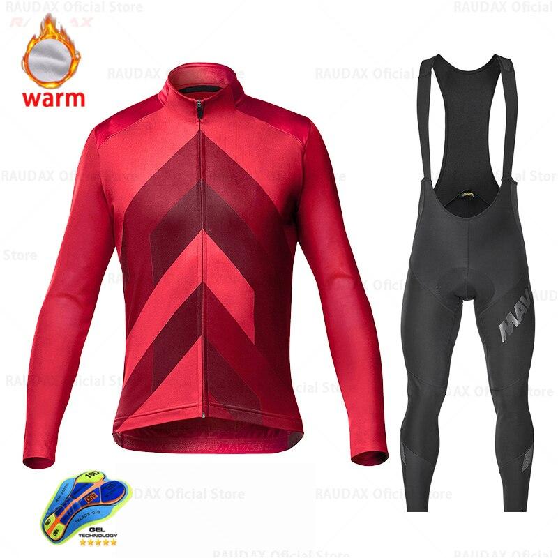 Mavic-ropa de Ciclismo térmica para hombre, maillot de manga larga y polar,...