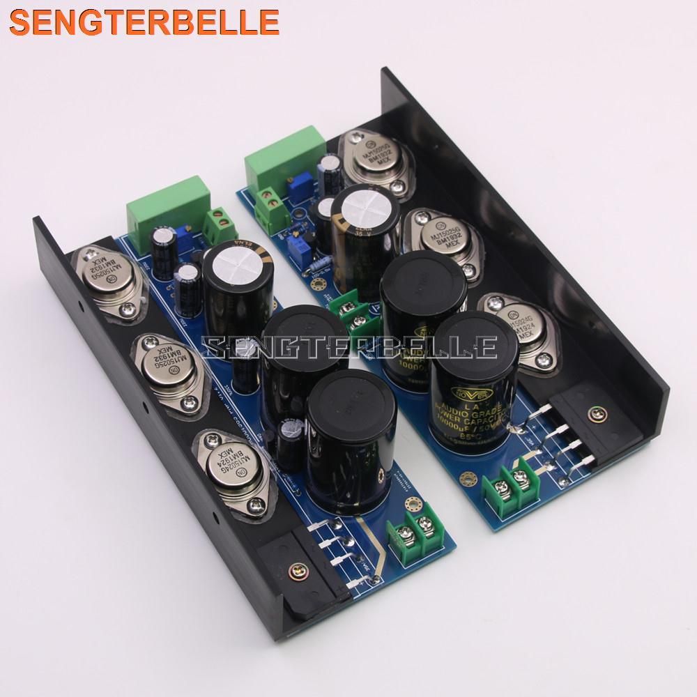 Montaje de campana 1969 MJE15024/25 placa amplificadora de potencia Clase A 25W 2 CH amplificador