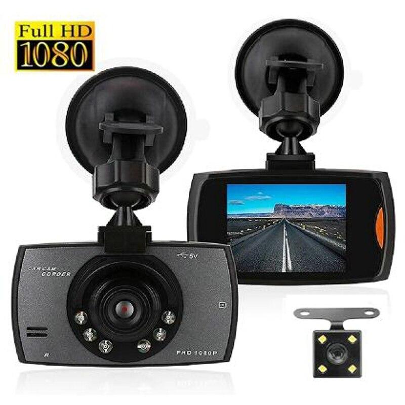car speed radar detector 2 in 1 car dvr camera dashcam g sensor video recorder hd 1080p dash cam wdr night vision registrar G30 Car DVR Dash Camera Rear View Dual Lens Video Recorder 1080P HD 2.2 Loop Recording Night Vision G-sensor Dash Cam Registrar
