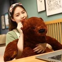 1m big simulation brown bear plush toy stuffed animal giant mr boss teddy bear plush doll pillow soft cushion kids birthday gift