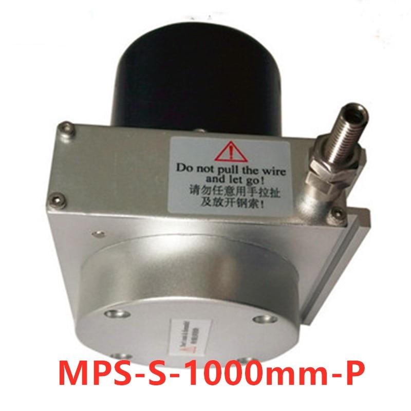سحب حبل التشرد الخطي استشعار نبض التشفير الناتج MPS-S-1000mm-P