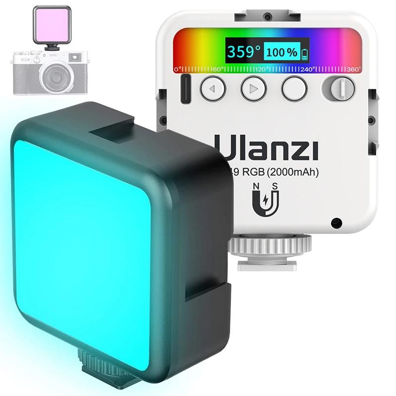 Ulanzi VL49 RGB Video Lights Mini LED Camera Light 2000mAh Rechargable LED Panel Lamp Photo Video Lighting  for Youtube Tik tok