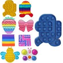 Sensory Toy Autism Special Needs Stress Reliever Push Bubble Fidget Sensory Toy Autism Special Needs