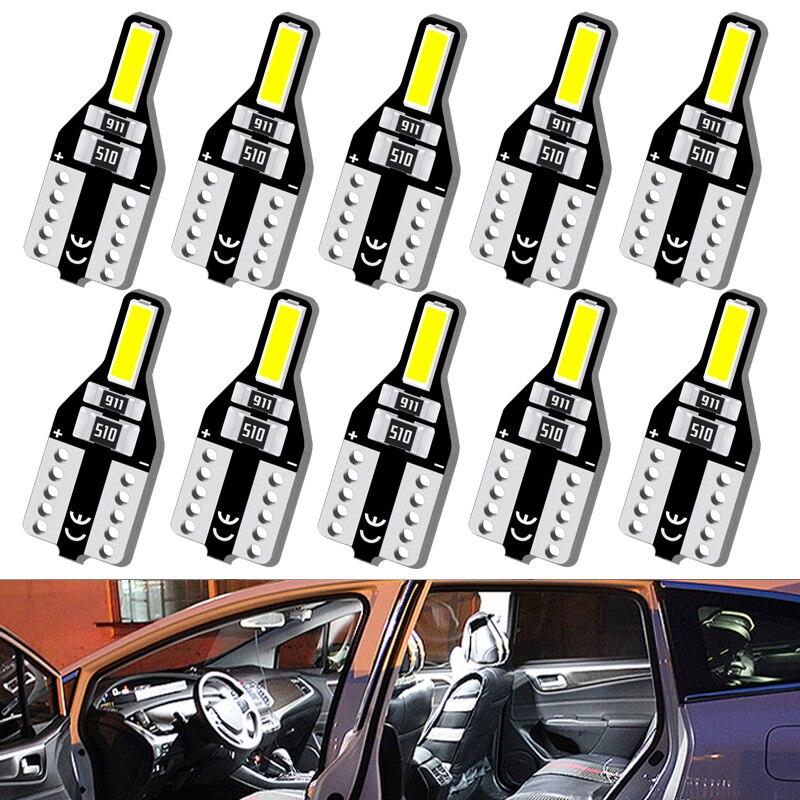 10PcsT10 W5W LED Lamp 12V White Auto Car Interior Light for Volvo XC60 XC90 S60 V70 S80 S40 V40 V50 XC70 V60 C30 850 C70 XC 60