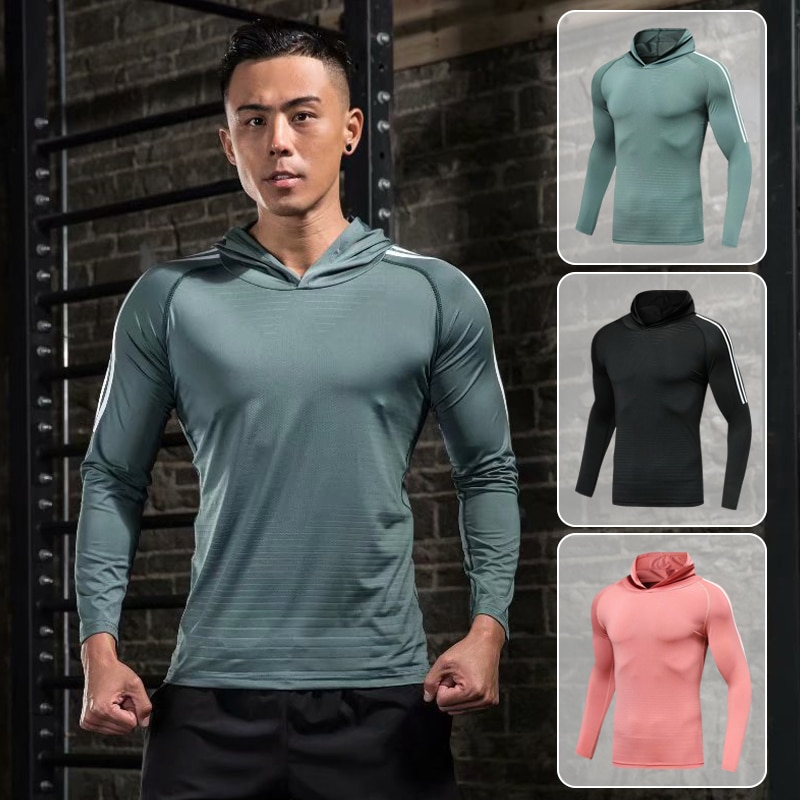 Men's Running T-Shirt Quick-Drying Compression Sweatshirt Soccer Jersey Baseball Cycling Sports Clothing Fitness Sportswear