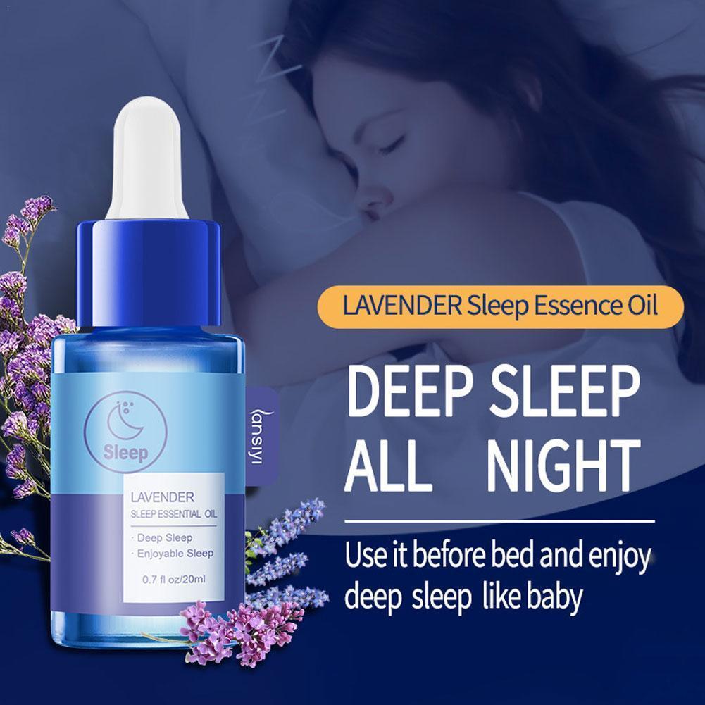 Aceite esencial de lavanda para dormir, aceite esencial para aliviar el insomnio...