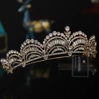 new fashion gold crown bridal tiaras hairband wedding hair jewelry