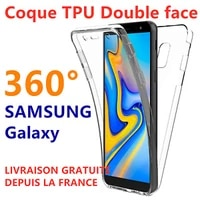 galaxy s20 s10 s9 plus s8 note 10 a21s a51 housse coque integrale silicone 360
